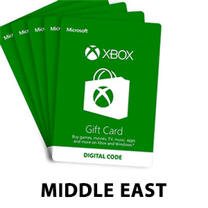 Middle East Xbox Gift Cards
